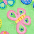 Click for Larger image of Hemstitching - Moda - Butterfly Fling - MO 22083-12 - Moda Butterfly Fling - Butterflies on Grassy Green