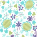 Click for Larger image of Hemstitching - Flowers and Dots - F4030-21F - Daises - Blue