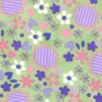 Click for Larger image of Hemstitching - Flowers and Dots - F4030-77F - Daises - Purple