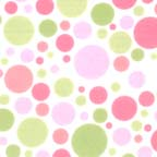 Click for Larger image of Hemstitching - Flowers and Dots - F4001-12F - Dots - Pink and Green