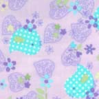 Click for Larger image of Hemstitching - Flowers and Dots - F4031-14F - Hearts - Purple and Teal