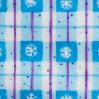 Click for Larger image of Hemstitching - Clothworks - Snow Day - SD 23081F-1 - Clothworks Snow Day - Light Blue Plaid with Snowflakes in blue squares