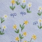 Click for Larger image of Hemstitching - Sleepyhead - Y0151-3 - Tiny Flower Clusters - Blue