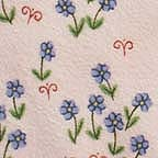 Click for Larger image of Hemstitching - Sleepyhead - Y0151-2 - Tiny Flower Clusters - Pink