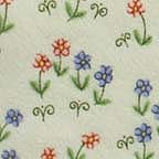 Click for Larger image of Hemstitching - Sleepyhead - Y0151-4 - Tiny Flower Clusters - Light Green