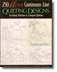 Just one of the 8 continuous line quilting design books by Laura Lee Fritz