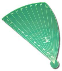 Linda Mae's Rays 18 inch Ruler Longarm Shortarm Quilting Rulers Guides and Templates